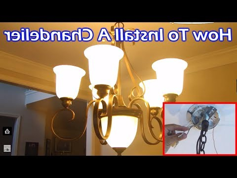 Install 6 Light Chandelier In Dining Room – Youtube Pertaining To Most Recently Released Suki 5 Light Shaded Chandeliers (View 23 of 30)
