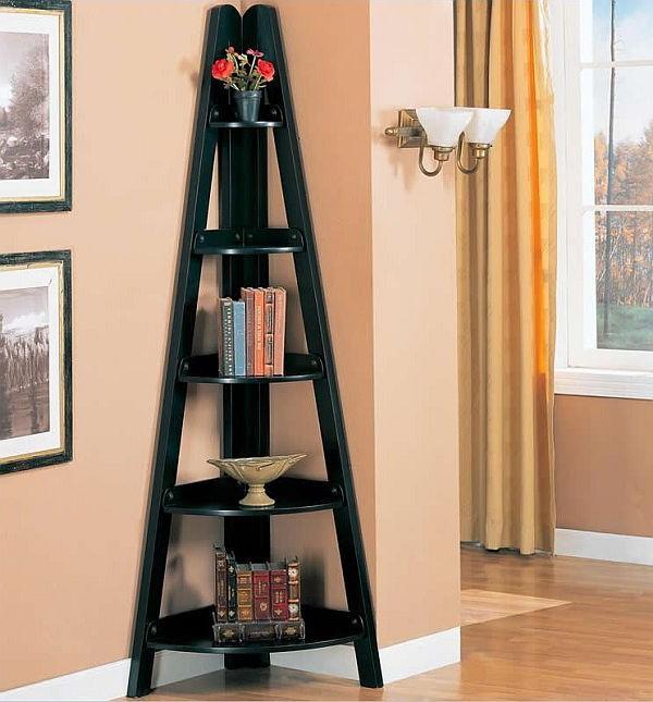 Interior Inspo Regarding Mari Wood Corner Bookcases (View 4 of 20)