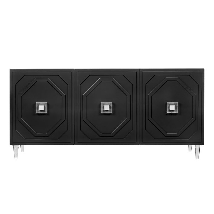 Jacklyn 3 Door Sideboards Pertaining To Trendy Trish Lacquer Buffet Table (View 5 of 20)