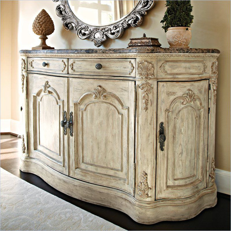 Jessica Mcclintock The Boutique Marble Top Buffet In White With Most Current Hayslett Sideboards (Gallery 12 of 20)
