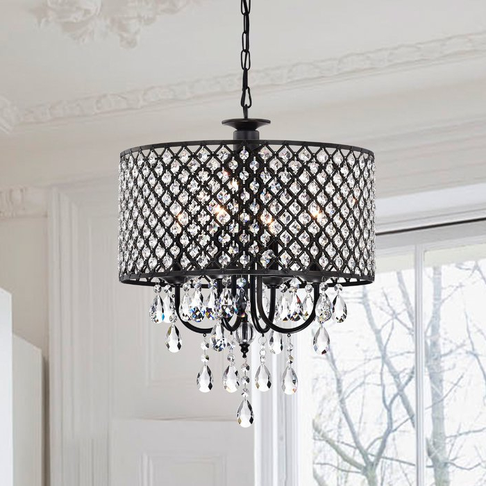Jill 4 Light Drum Chandeliers Intended For Favorite Gisselle 4 Light Drum Chandelier (View 4 of 30)