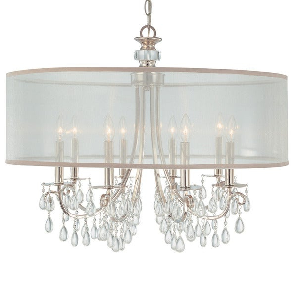Jill 4 Light Drum Chandeliers With 2020 Polished Chrome 8 Light Chandelier (View 26 of 30)