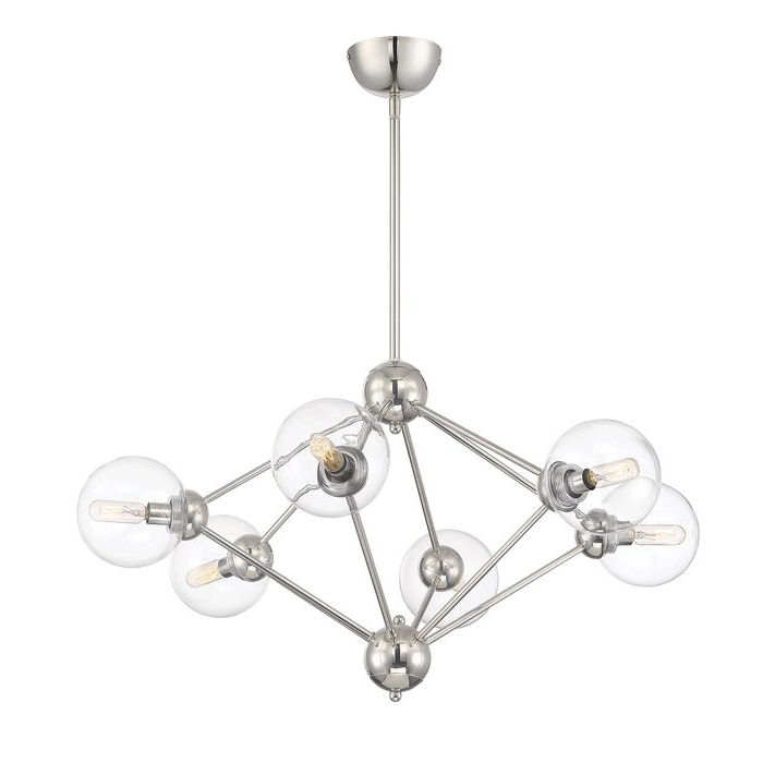 Johanne 6 Light Sputnik Chandeliers For Newest Valetta 6 Light Geometric Chandelier (Gallery 27 of 30)