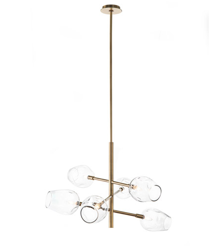 Joon 6 Light Globe Chandeliers Pertaining To Well Known Signature 6 Light 48 Inch Brass Chandelier Ceiling Light (View 13 of 30)