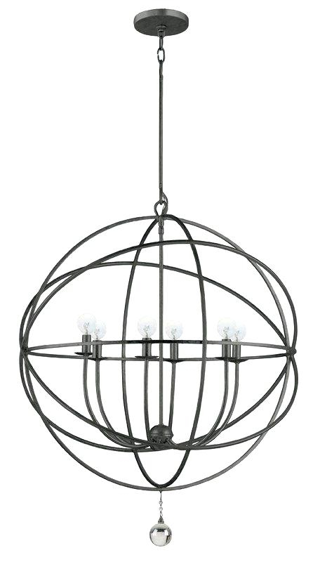 Joon 6 Light Globe Chandeliers Regarding Popular 6 Light Globe Chandelier – Luwalcott (View 14 of 30)