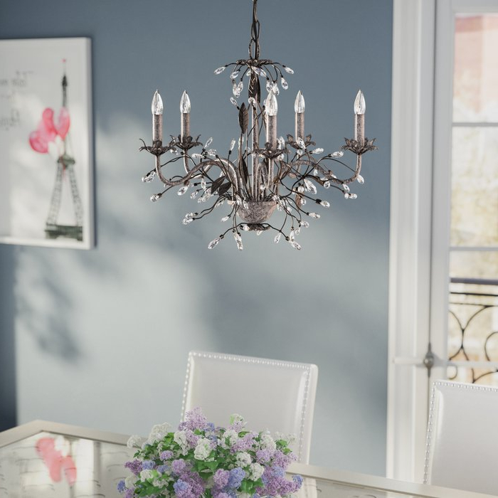 Joss & Main In Berger 5 Light Candle Style Chandeliers (View 11 of 30)