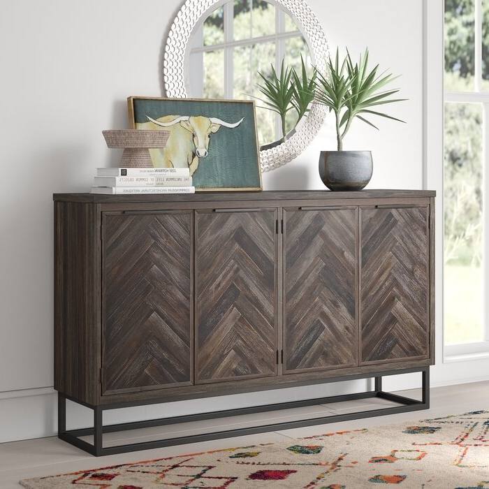 Kaelyn Credenza With Most Up To Date Armelle Sideboards (View 11 of 20)