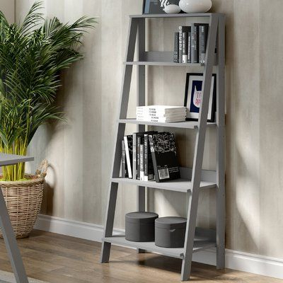 Kaitlyn Ladder Bookcases Pertaining To Well Liked Kaitlyn Ladder Bookcase (View 6 of 20)
