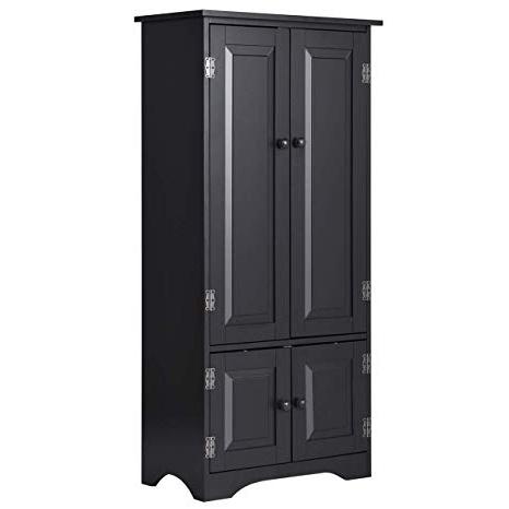 Kattie 4 Door Cabinets With Regard To Most Recent Amazon: Giantex Accent Floor Storage Cabinet Adjustable (Gallery 6 of 20)