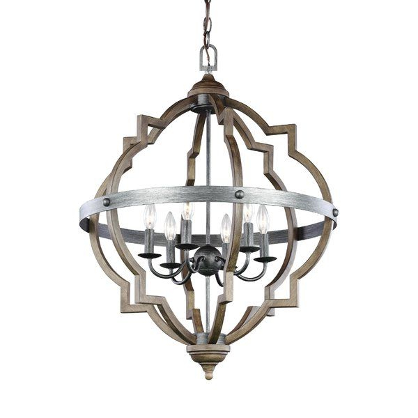 Kaycee 4 Light Geometric Chandeliers In Popular Bennington 6 Light Candle Style Chandelier (View 13 of 30)