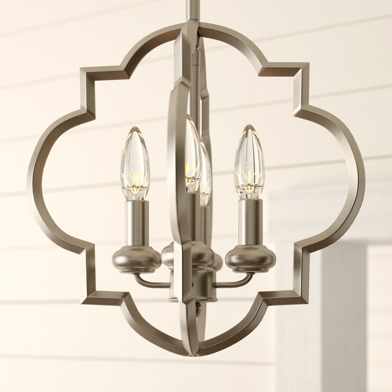 Kaycee 4 Light Geometric Chandeliers Intended For Preferred Hartley 4 Light Geometric Chandelier (View 14 of 30)