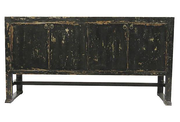 Keith 4 Door Sideboard, Black On Onekingslane (View 7 of 20)