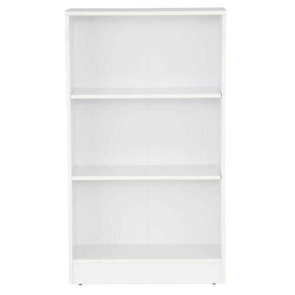 Keithley Standard Bookcases Within 2020 Hampton Bay White 3 Shelf Bookcase Thd90003.1A (View 17 of 20)