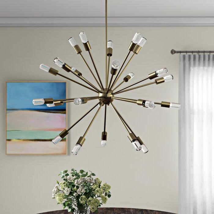 Kendall 24 Light Chandelier Within Preferred Bacchus 12 Light Sputnik Chandeliers (Gallery 21 of 30)