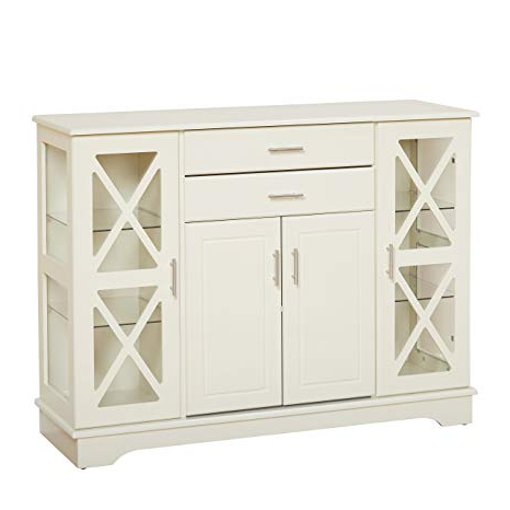 Kendall Sideboards Within Newest Target Marketing Systems 30110Awh Kendall Buffet, Antique White (Gallery 6 of 20)