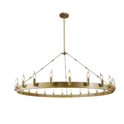 Kenedy 9 Light Candle Style Chandeliers Pertaining To Favorite Gold – Candle Style – Chandeliers – Lighting – The Home Depot (View 22 of 30)