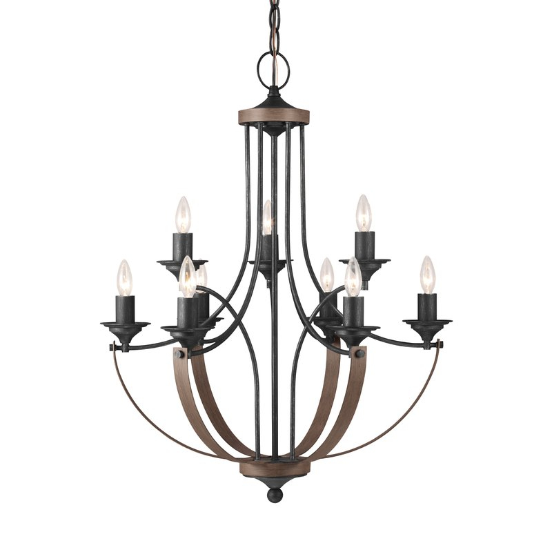 Kenedy 9 Light Candle Style Chandeliers Within Popular Camilla 9 Light Candle Style Chandelier (View 5 of 30)