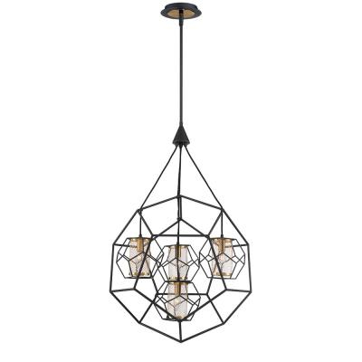 Kenroy Home Arne 5 Light Black Chandelier With Black Shade For Most Up To Date Blanchette 5 Light Candle Style Chandeliers (View 19 of 30)