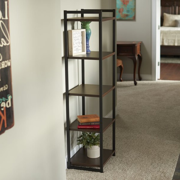 Kiley Standard Bookcases For Most Up To Date Stoddard 5 Etagere Bookcasegracie Oaks (View 9 of 20)