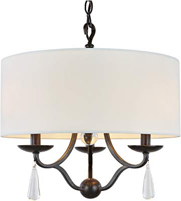 "Kira Home Quinn 21"" Traditional 5 Light Chandelier + White Pertaining To Most Current Burton 5 Light Drum Chandeliers (Gallery 28 of 30)"