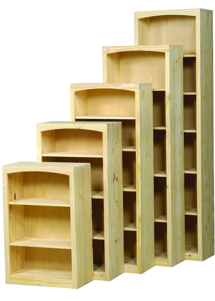 "Kit Bookcases In Preferred 2472D Pine Bookcase 24"" X 72"" W/ Door Kit (View 7 of 20)"