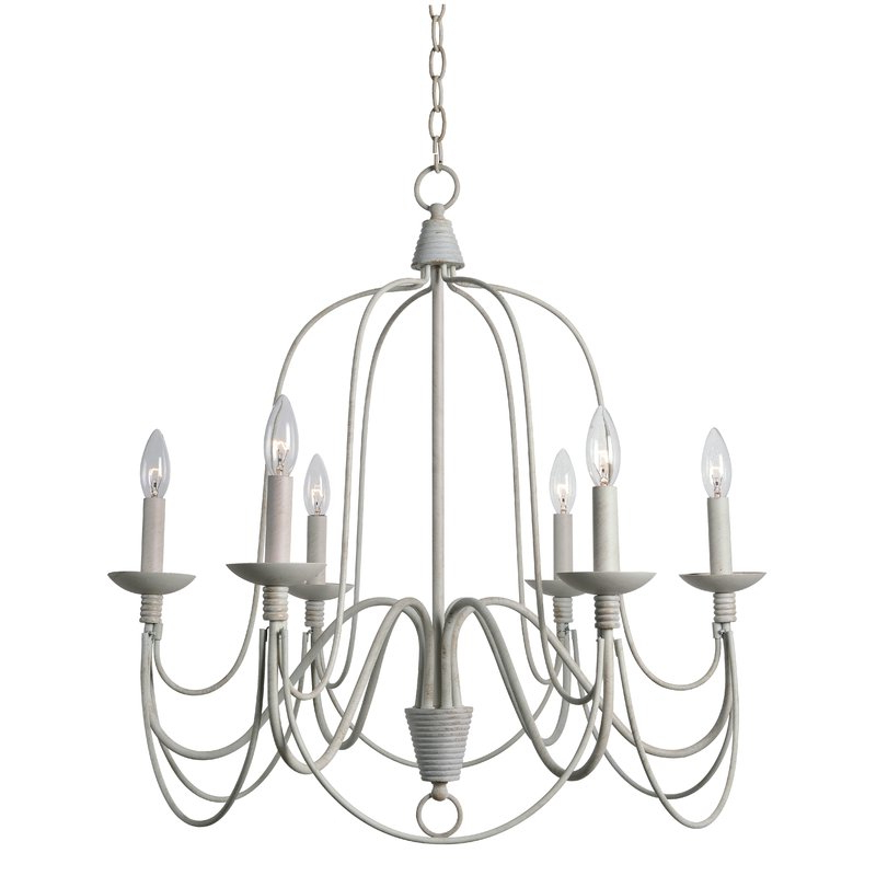 Kollman 6 Light Candle Style Chandelier Pertaining To Widely Used Shaylee 6 Light Candle Style Chandeliers (View 27 of 30)