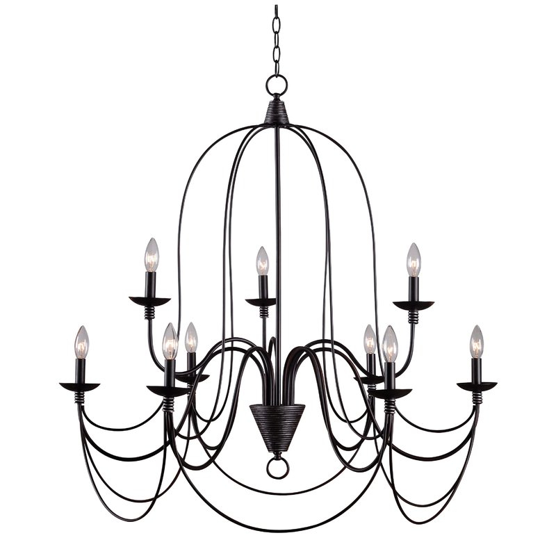 Kollman 9 Light Candle Style Chandelier Pertaining To Best And Newest Gaines 9 Light Candle Style Chandeliers (View 5 of 30)