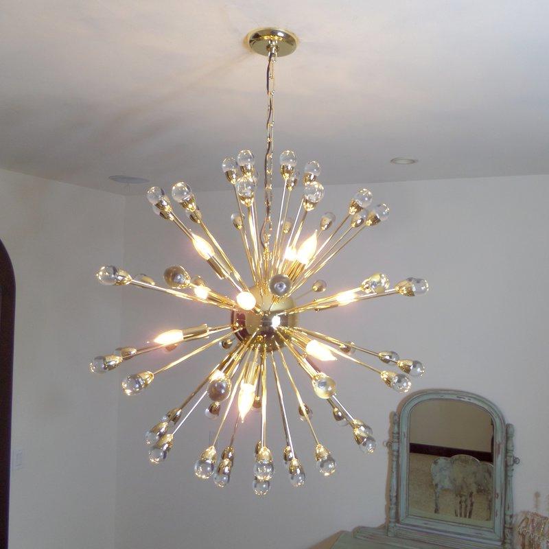Kucharski 12 Light Sputnik Chandelier With Regard To Widely Used Bacchus 12 Light Sputnik Chandeliers (Gallery 8 of 30)