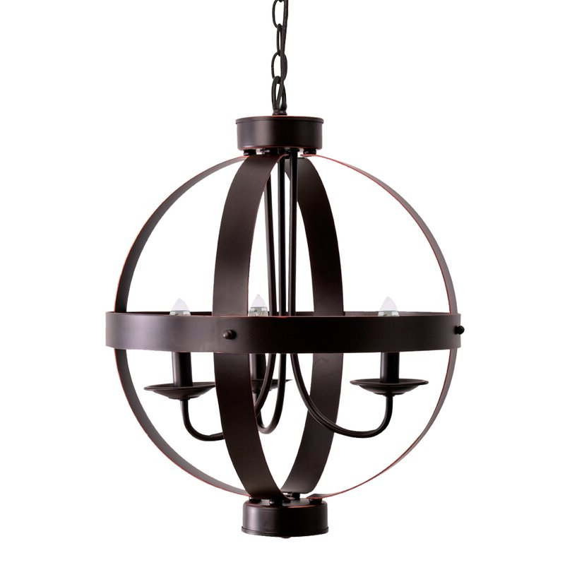La Sarre 3 Light Globe Chandelier For Widely Used La Sarre 3 Light Globe Chandeliers (Gallery 1 of 30)