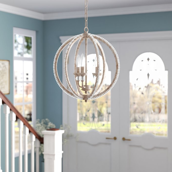 La Sarre 3 Light Globe Chandeliers For 2019 Clarice 3 Light Led Candle Style Mini Chandelier (View 14 of 30)