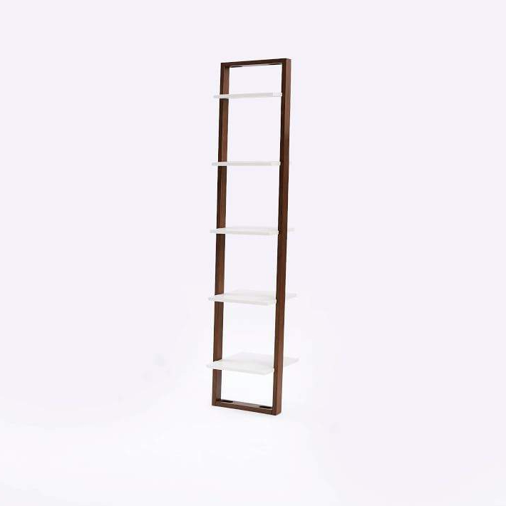 Ladder Bookshelf – Narrow (White/espresso) For Current Mayna Ladder Bookcases (View 7 of 20)