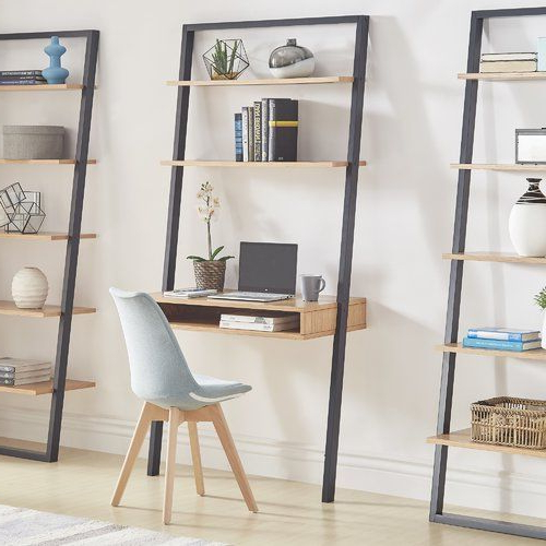 Ladder Desk Throughout Bostic Geometric Bookcases (View 8 of 20)