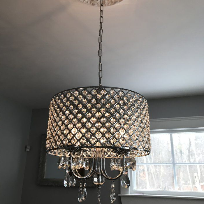 Lamp Colgante Rec Princ With Von 4 Light Crystal Chandeliers (View 10 of 30)
