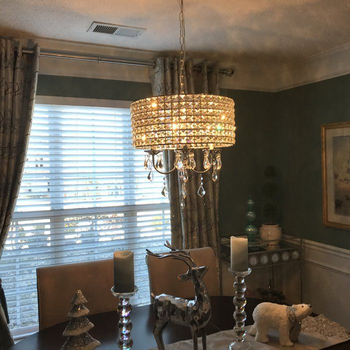 Latest Albano 4 Light Crystal Chandelier In (View 8 of 30)