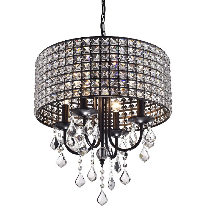 Latest Albano 4 Light Crystal Chandelier With Mckamey 4 Light Crystal Chandeliers (Gallery 6 of 30)