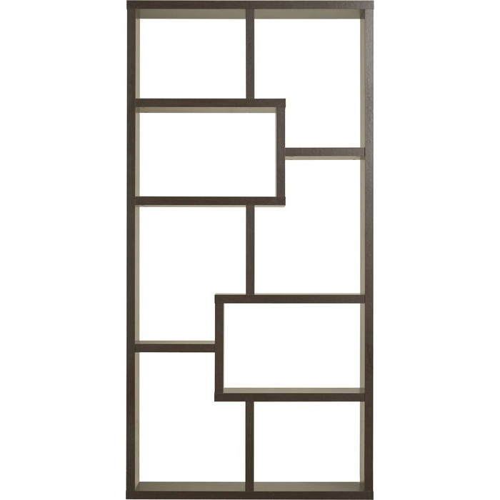 Latest Ansley Geometric Bookcase In Ansley Geometric Bookcases (Gallery 13 of 20)
