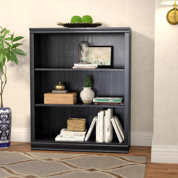 Latest Belue Standard Bookcases Inside Caines 3 Shelf Standard Bookcaseandover Mills (Gallery 19 of 20)