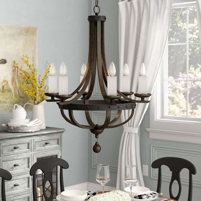 Latest Betty Jo 6 Light Empire Chandelier Pertaining To Phifer 6 Light Empire Chandeliers (View 12 of 30)