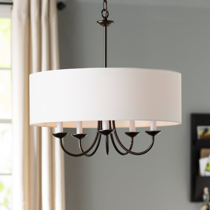Latest Burton 5 Light Drum Chandelier With Regard To Harlan 5 Light Drum Chandeliers (View 7 of 30)