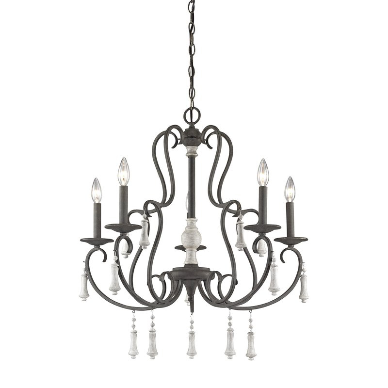 Latest Corneau 5 Light Chandeliers Regarding Pollitt 5 Light Chandelier (View 6 of 30)