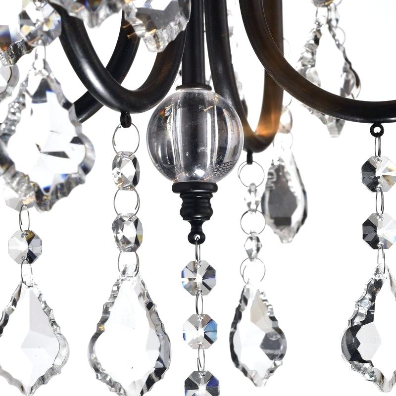 Latest Crystal Chandelier Replacement Parts – Familyswag.co In Albano 4 Light Crystal Chandeliers (Gallery 13 of 30)