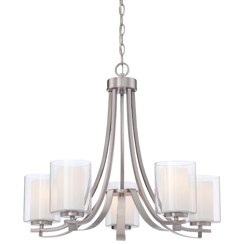 Latest Demby 5 Light Shaded Chandelier Intended For Crofoot 5 Light Shaded Chandeliers (View 12 of 30)