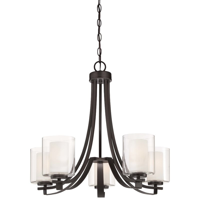 Latest Demby 5 Light Shaded Chandelier Throughout Crofoot 5 Light Shaded Chandeliers (View 10 of 30)