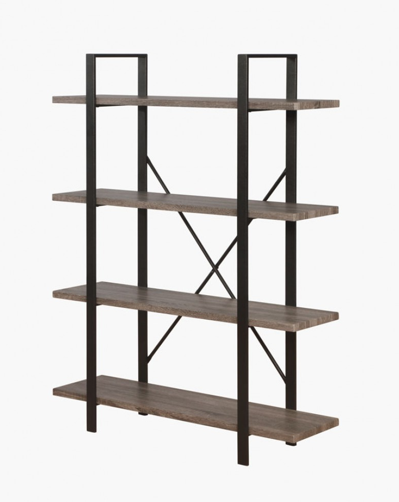 Latest Etagere Bookcases Intended For Crown Mark Durango 4 Shelf Etagere Bookcases (View 5 of 20)
