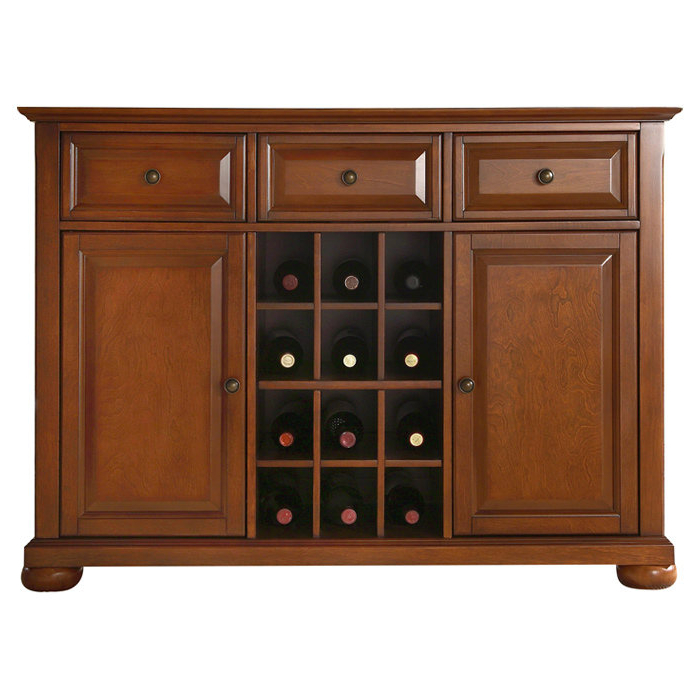 Latest Farmhouse & Rustic Wine Bottle Storage Equipped Sideboards Within Payton Serving Sideboards (Gallery 18 of 20)