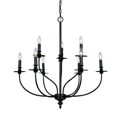 Latest Giverny 9 Light Candle Style Chandeliers Regarding Giverny 9 Light Candle Style Chandelier (Gallery 4 of 30)
