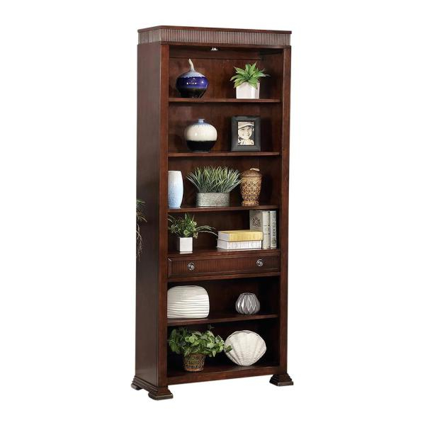 Latest Highland Park Merlot Standard Bookcase Within Standard Bookcases (Gallery 7 of 20)