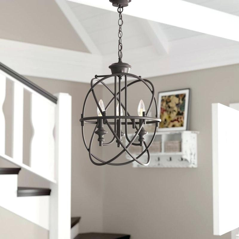 Latest La Sarre 3 Light Globe Chandeliers For Industrial Globe Chandelier – Cryptopops (View 21 of 30)