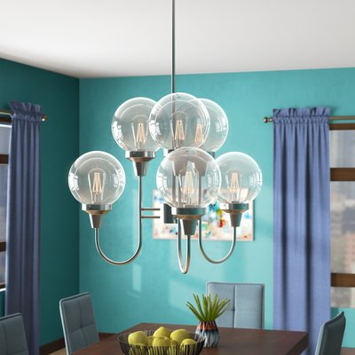 Latest Sherri 6 Light Chandeliers With Langley Street Tristin Indoor 6 Light Candle Style (View 15 of 30)