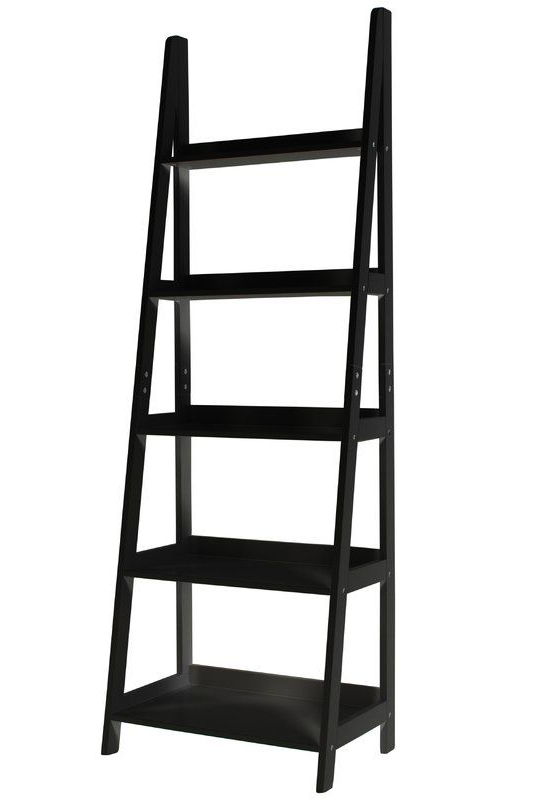Latest Silvestri Ladder Bookcases For Mintra 5 Tier A Frame Ladder Shelf Open Back Design Storage (Gallery 12 of 20)